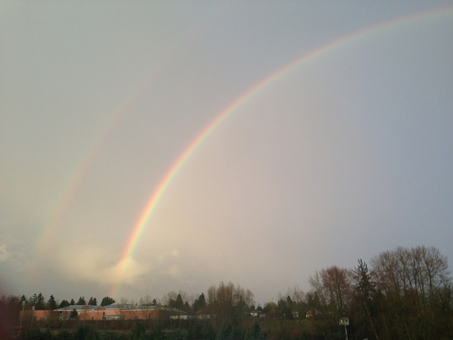 Double after Storm Cloverdale, British Columbia Canada