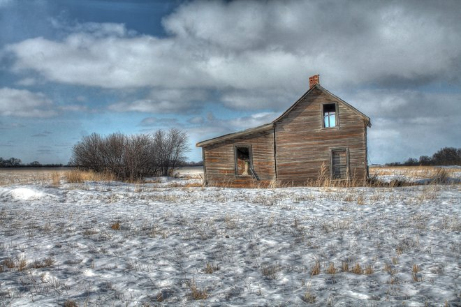 Small House Abandoned Conquest, Saskatchewan Canada