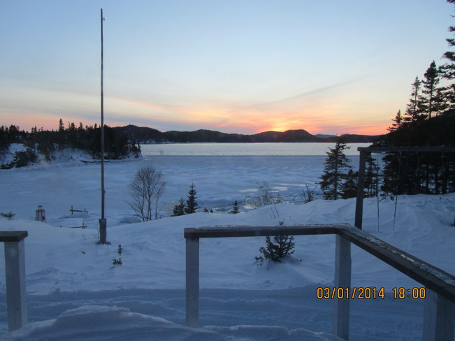 Sunset at the cabin Eastport, Newfoundland and Labrador Canada