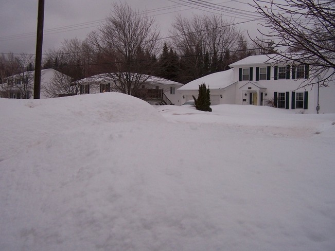 10 Ft snow bank Fredericton, New Brunswick Canada