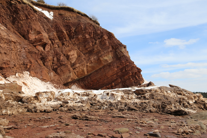 The Red Cliffs of Johnson's Mills Dorchester, New Brunswick Canada