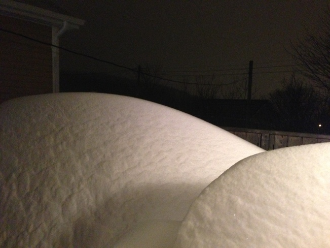 10 hrs and 6 ft of snow on my back deck. 36 hrs to go Shea Heights, Newfoundland and Labrador Canada