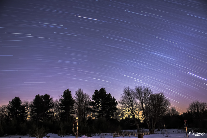 Star Trails near Smiths Falls Smiths Falls, Ontario Canada