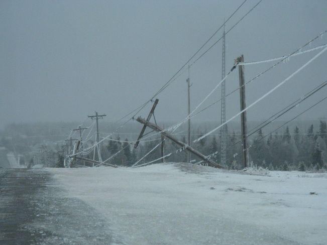Downed Poles Summerside, Prince Edward Island Canada