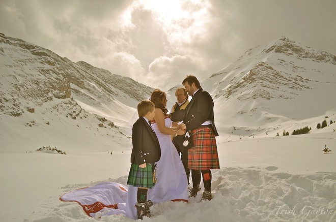 Stunning Heli-Wedding in the Canadian Rockies Canmore, Alberta Canada