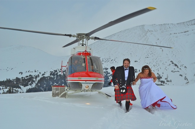 Canadian Heli-Wedding in the Rockies Canmore, Alberta Canada