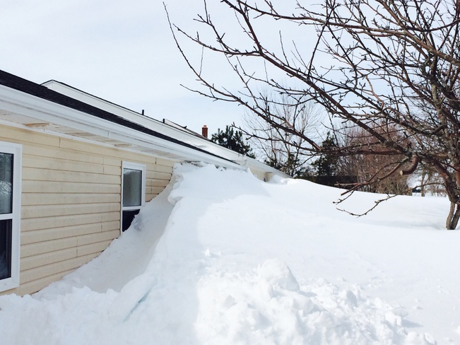 Just a little bit of snow! Summerside, Prince Edward Island Canada