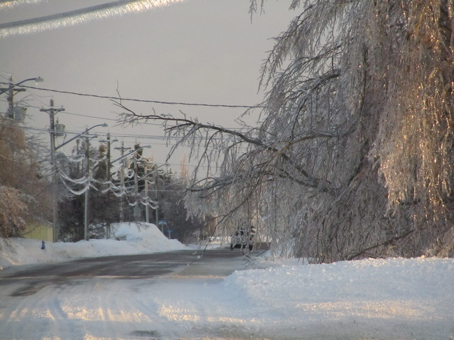 crazy ice storm Cocagne, New Brunswick Canada
