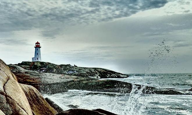 Spring Splash Peggys Cove, Nova Scotia Canada