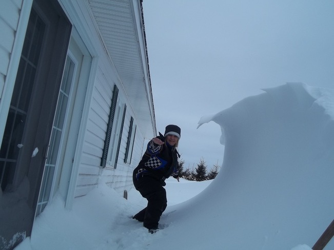 Snow surfing at home !