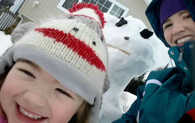 Selfie with Last Snowman of the Year