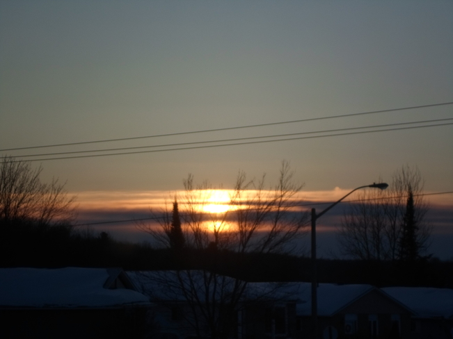 Beautiful sun rise/Spring 1 day at a time Elliot Lake, Ontario Canada