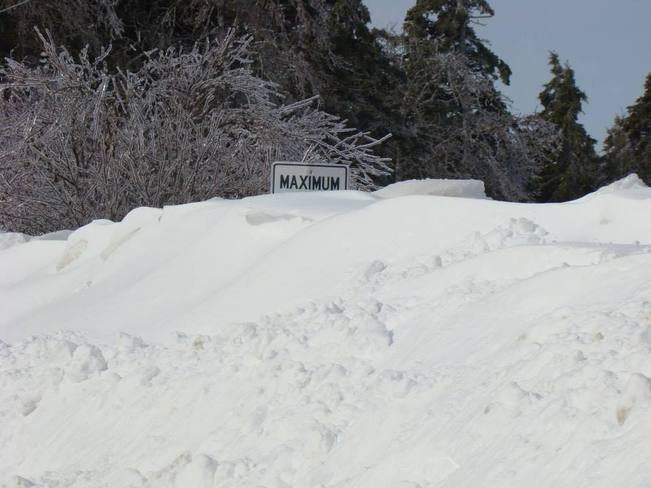 Alberton has reached its snow limit! Alberton, Prince Edward Island Canada