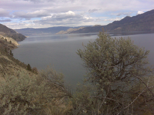 Hiking the clay cliffs Penticton, British Columbia Canada