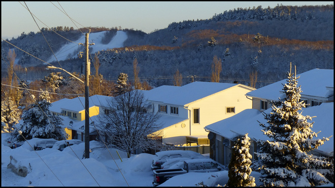 Beautiful cold morning in Elliot Lake. Elliot Lake, Ontario Canada