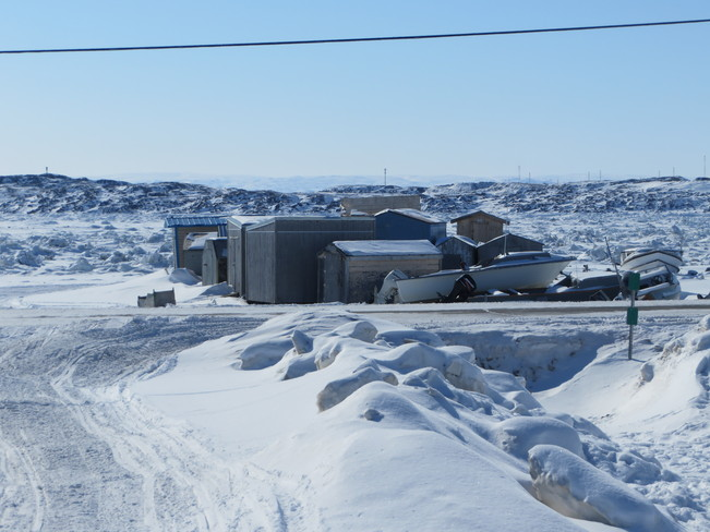 the beach in my neighbourhood Iqaluit, Nunavut Canada