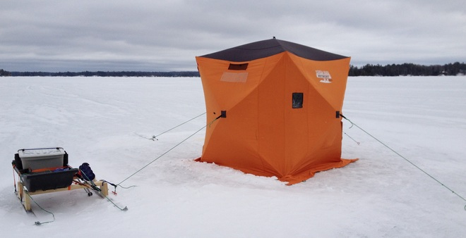 Ice Fishing Port Carling, Ontario Canada