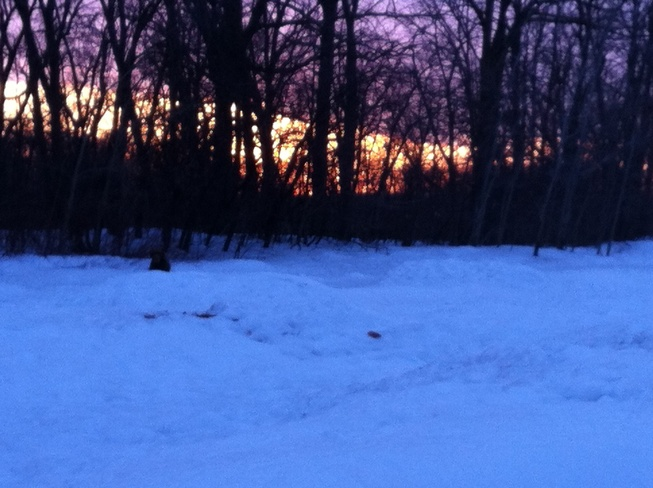 The remnants of the sunset Winnipeg, Manitoba Canada