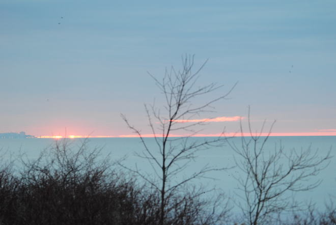 Cool lakefront morning Ajax, Ontario Canada