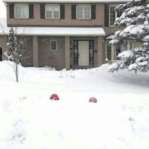 What happens when you leave your kids outside on Ottawa (in the spring?) Ottawa, Ontario Canada