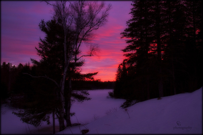 A beautiful sunrise over our marsh. Magnetawan, Ontario Canada