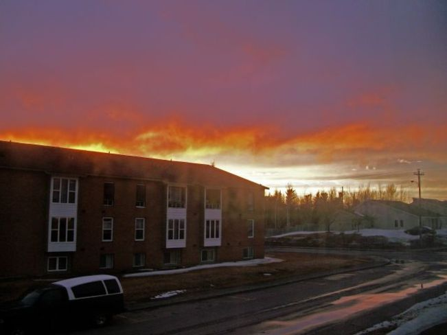 Firey Sunset Grand Falls-Windsor, Newfoundland and Labrador Canada