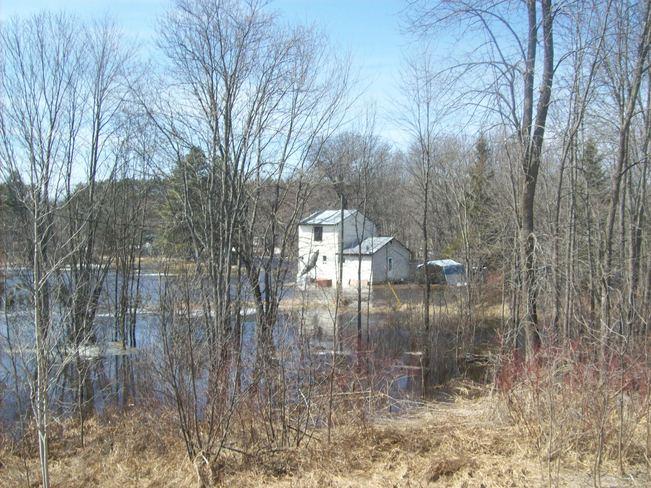 Skootamatta River flood Tweed, Ontario Canada