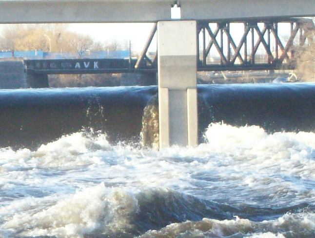 The Threat of flooding occuring on the Moira River Belleville, Ontario Canada