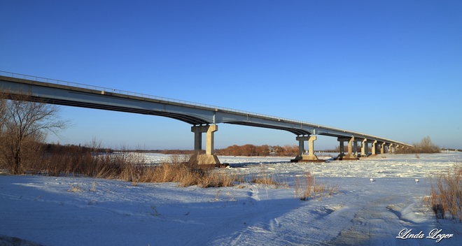 Spanning The Red Selkirk, Manitoba Canada
