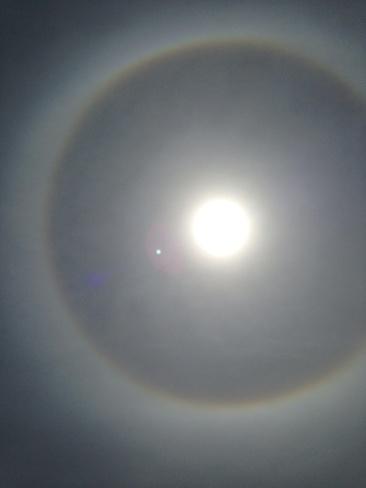the sun looks like an eye Sainte-Dorothée, Quebec Canada