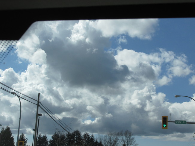 clouds just moving along... Surrey, British Columbia Canada