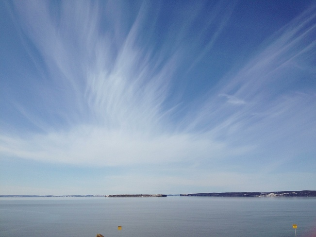 painted brush cloud Conception Bay South, Newfoundland and Labrador Canada