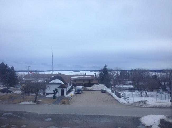 Eagle lake still frozen Dryden, Ontario Canada