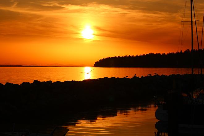sunset at White Rock Beach White Rock, British Columbia Canada