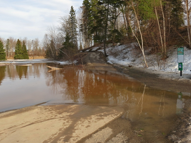 Flooding in Centennial Park Moncton, New Brunswick Canada