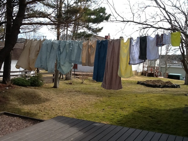 Great weather for staying clothes Bay Roberts, Newfoundland and Labrador Canada