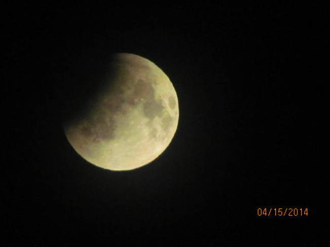 eclipse moon New Waterford, Nova Scotia Canada