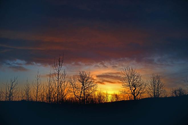 Springtime Sunrise Lethbridge, Alberta Canada