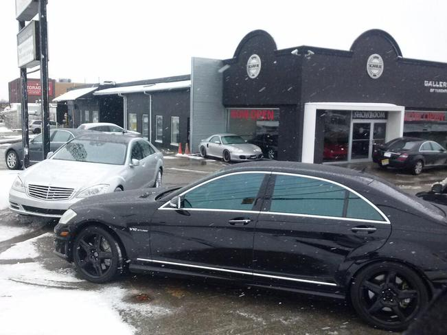 Snow and a 2014 V12 Mercedes Turbo North York, Ontario Canada