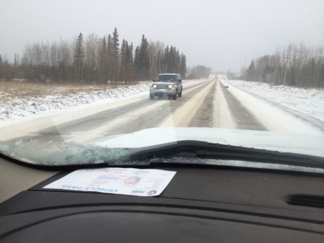 Not good roads on 881. Fort McMurray, Alberta Canada