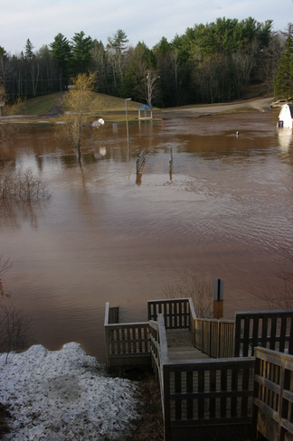 Centennial Park is Flooded Moncton, New Brunswick Canada