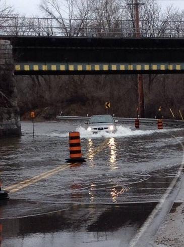 Gananoque River vs Car Gananoque, Ontario Canada