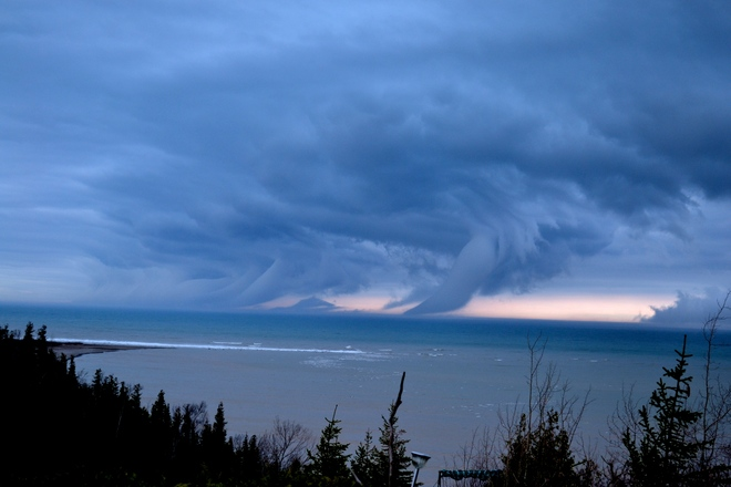 Cold Front Moving in Goderich, Ontario Canada
