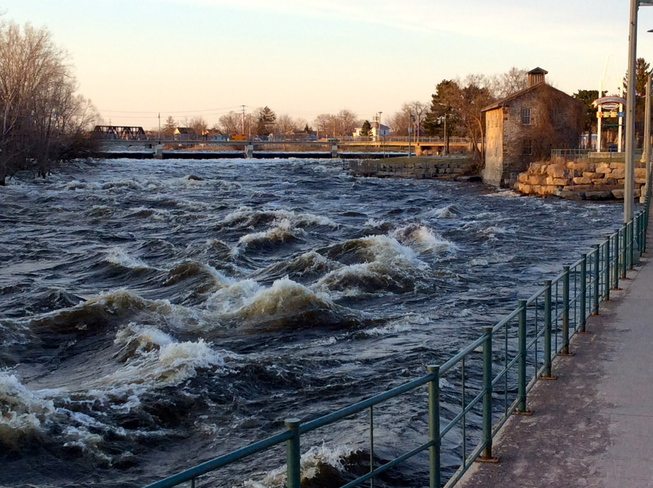 The mighty Moira River Belleville, Ontario Canada