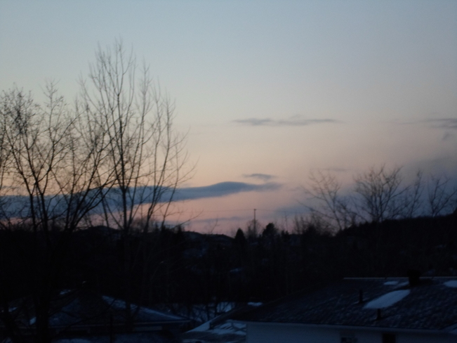 Pink cloud at sunset Elliot Lake, Ontario Canada