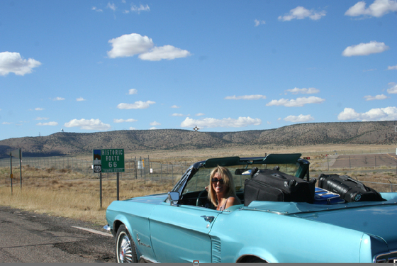 My 1967 Mustang on Route 66