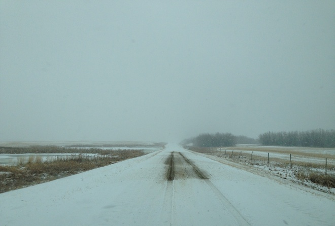 snow!! Young, Saskatchewan Canada