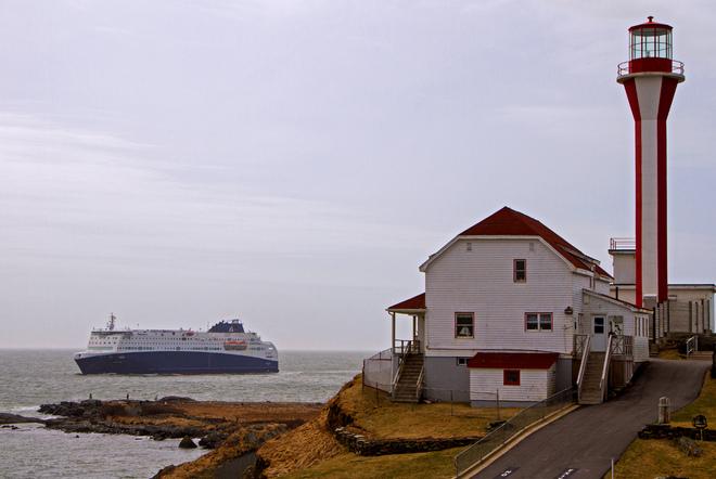 Nova Star passes the Yarmouth Light Yarmouth, Nova Scotia Canada