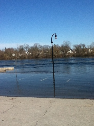 little lake flooded Peterborough, Ontario Canada