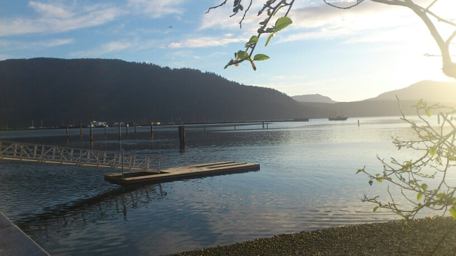 Morning over the bay Cowichan Bay, British Columbia Canada